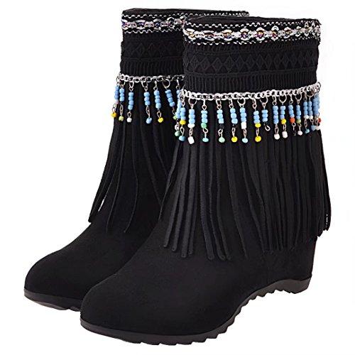 AIYOUMEI Black WoMen Boot AIYOUMEI Classic Black Boot Classic WoMen Classic Boot AIYOUMEI Black WoMen IrqIt