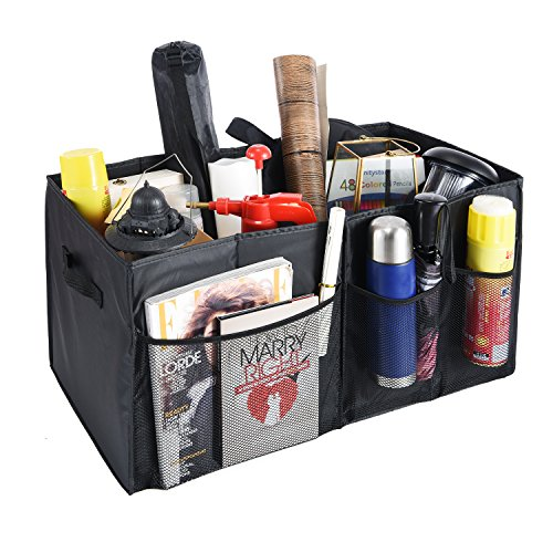 Trunk Organizer with Two Handles and Side-Pocke...