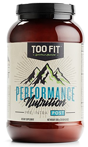 Too Fit ® POST | Natural Post Workout Recovery Supplement Drink Powder | Organic Grass Fed Whey Protein, Collagen Peptides, BCAA, L-Glutamine, MCT Oil Powder, Vanilla Cinnamon, 20 Servings