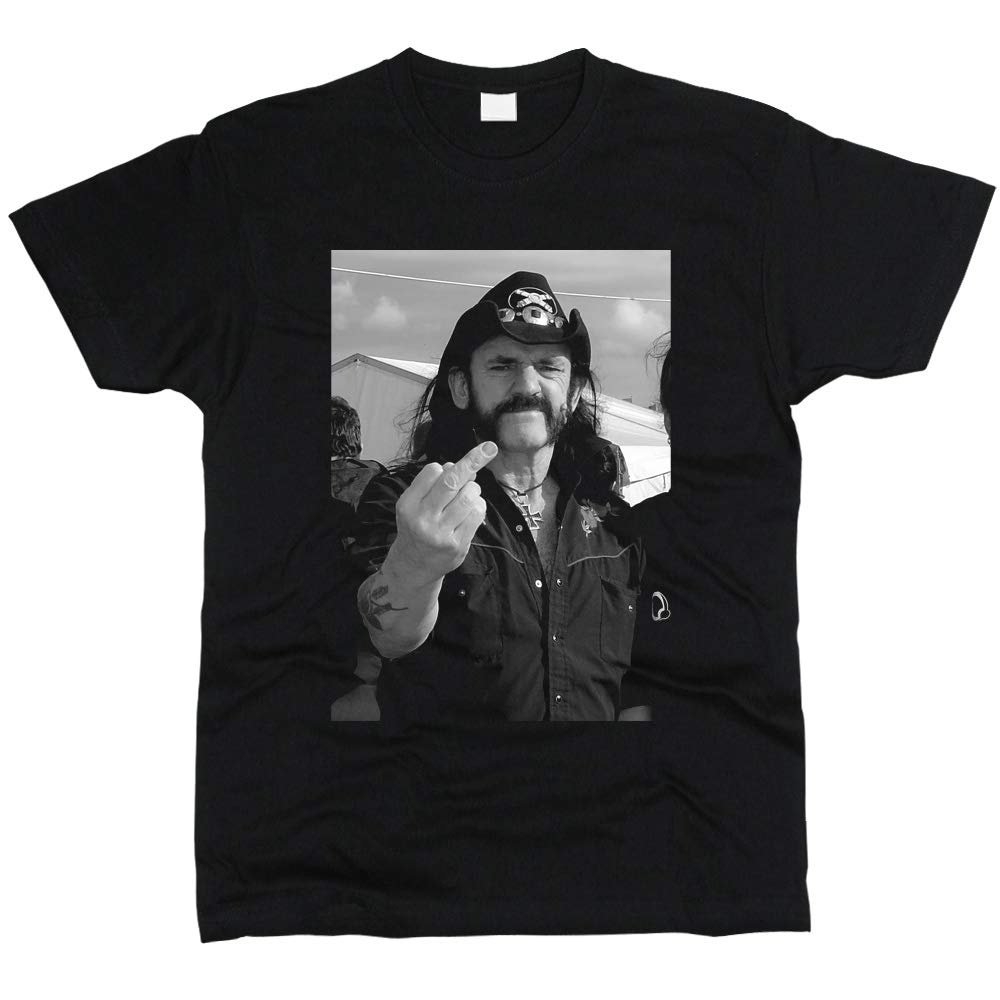 PrintPro Lemmy Kilmister Motorhead T-Shirt Men Regular Fit Cotton