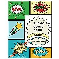 """Comic Book en blanco para niños: páginas de cómics: 50 páginas, paneles de dibujos animados /cómics de 8.5 """"x 11"""", para dibujar sus propios cómics, los mejores regalos para niños ... libros para niños: Comic Panels) (Volumen 3)"""
