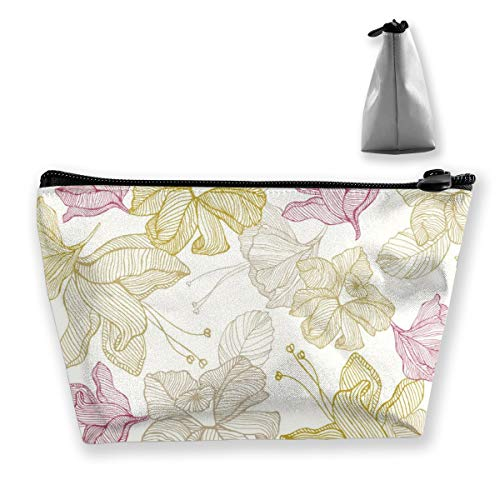 (Yunshm Vintage Flowers Customized Trapezoidal Storage Bag Ladies Waterproof for Carrying Travel)