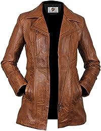 Splendid Brown Short Body Lambskin Leather Coat For Women