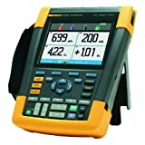 Fluke 190-204/AM/S 4 Channel LCD Color ScopeMeter Oscilloscope with SCC290 Kit, 200 MHz Bandwidth, 1.7ns Rise time