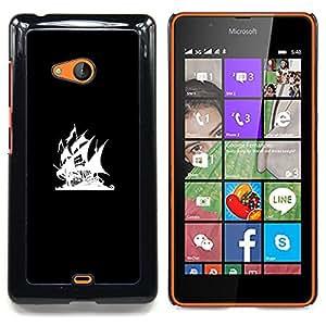 """Qstar Arte & diseño plástico duro Fundas Cover Cubre Hard Case Cover para Nokia Lumia 540 (Bandera Pirata Bay"""")"""