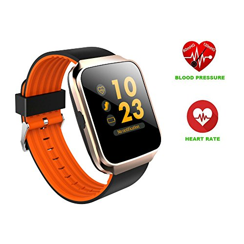 Hangang Fitness Tracker Bluetooth Smart Watch Sports Bracelet Activity Tracker SmartBand Z40 Colorful Display Waterproof for Android Phones/IOS Heartrate Blood Pressure Pedometer For Women Men kids