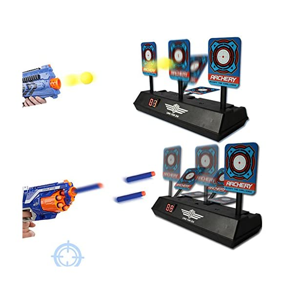 Ocamo Children Electric Score Bullet Target Toy for Nerf Toys Soft Bullets Blaster (Not Include Toy Gun or Bullets)