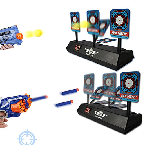 Electronic Effects Sound (Studyset Children Electronic Intelligent Light Sound Effect Scoring Target Apollo Bomb Electric Score Bullet Target Toy For Nerf Toys Soft Bullets Blaster)