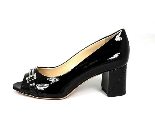 sports shoes c1819 4ff3a Baldinini, Scarpe peep toe donna, Nero (nero), 39: Amazon.it ...