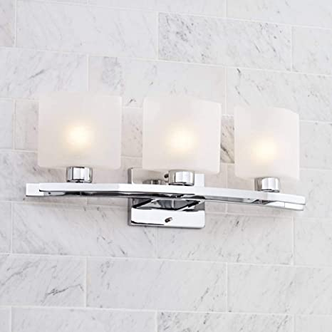Pleasing Possini Euro Linen Glass 23 1 2 Wide Chrome Bath Light Possini Euro Design Home Interior And Landscaping Staixmapetitesourisinfo