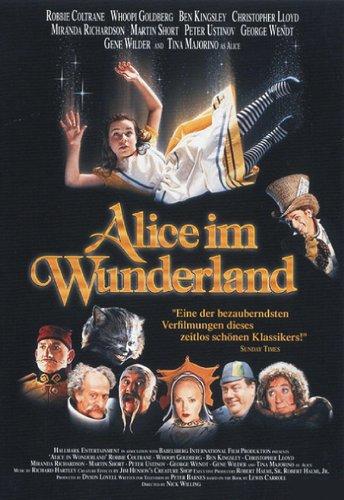 Alice in Wonderland Movie Poster (27 x 40 Inches - 69cm x 102cm) (1999) German -(Robbie Coltrane)(Whoopi Goldberg)(Ben Kingsley)(Christopher Lloyd)(Pete Postlethwaite)(Miranda Richardson)