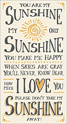 uniquepig You Are My Sunshine Quotes Wooden Hanging Sign Valentines Day Decor Sign Wedding Sign Decorative Plaque 10x30cm Gifts for Girlfriend