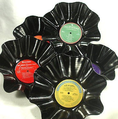 Set of 5 Record Bowls - Christmas Holiday