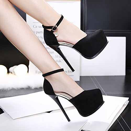 black Black Waterproof AGECC 14Cm Super High Table Shoes Heel With Thin xwUv6q4wT