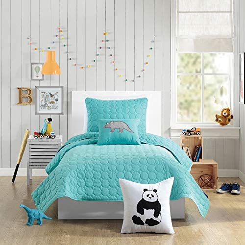 Urban Playground DENITA QUILT SET TWIN Aqua (Quilts Aqua)