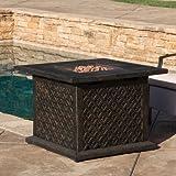 Cheap Santana Metal Propane Fire Pit Table
