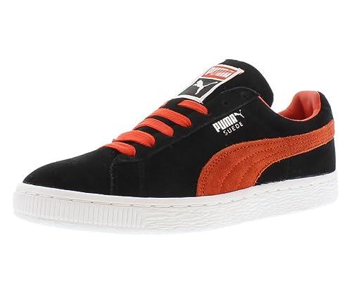 black and orange puma shoes
