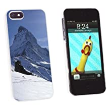 Graphics and More Matterhorn Swiss Alps Mountain - Snap-On Hard Protective Case for Apple iPhone 5/5s - Non-Retail Packaging - White