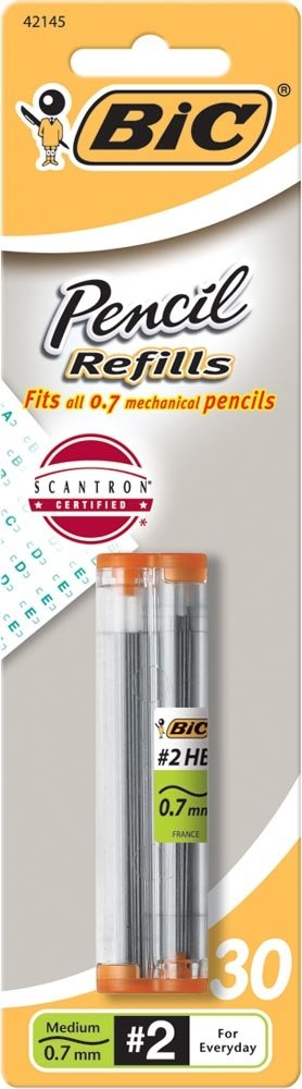 2x BIC Repuestos de plomo con l¨¢piz, punto medio (0.7 mm)