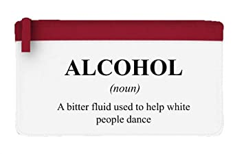 Estuche para lápices o bolsa de mano con definición de alcohol, color rosso talla única: Amazon.es: Oficina y papelería