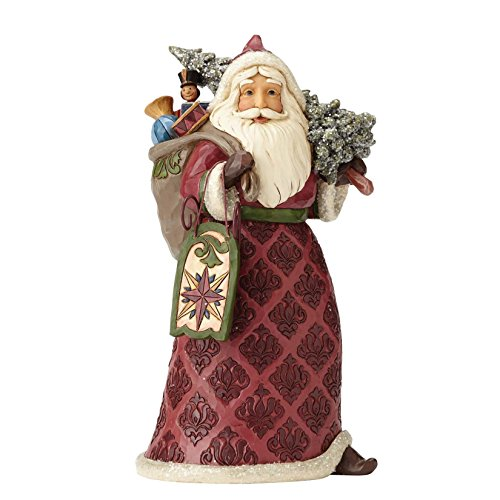 Enesco Jim Shore Heartwood Creek Dreaming of Christmas Past Stone Resin Santa Figurine, - Shore Jim Santa