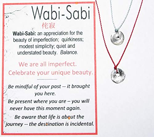 Pure Solid Silver Shibui Molten Droplet Charm Cord Necklace, Wabi Sabi Chic Minimalist Sterling Clasp