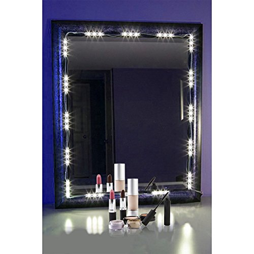 Lighted Vanity Mirror Kit : PENSON Lighted Mirror LED Light for Cosmetic Makeup Vanity Mirror Kit, 20 LED Lights, Desertcart