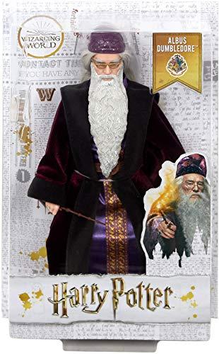 51II8zioKIL albus dumbledore - muñeco coleccionable de la saga harry potter profesor dumbledore - figura coleccionable para verdaderos fans: su característica ropa y los detalles especiales, como la barba y la varita de sauco, hacen que este muñeco de colección tenga un aspecto idéntico a las películas Dumbledore