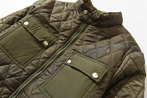 Oscuro Prueba a Viento Hombre Verde Acolchado Abrigo de Chaqueta M2C 7gBzg