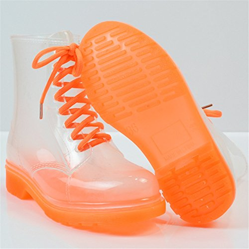 Fashion Transparent Girls E Summer Shoes Shoes PVC Martin Rain Spring Boots Ladies Water HUAN Academy Rain BqY6WvwZY