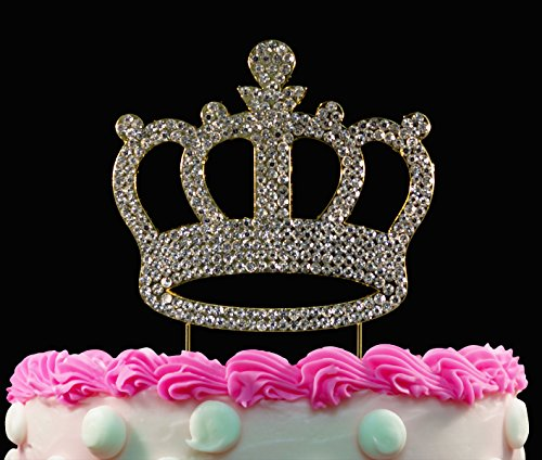 rystal Cake Toppers Crown Birthday Cake Toppers ()
