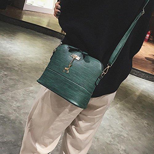 Shell Women Lady TOOPOOT Shoulder Tote Handbag Green Bag Retro Small Shoulder Bag Vintage Leather wAS8wx4rq