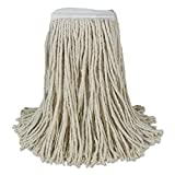 Boardwalk CM20020 Banded Cotton Mop Heads, Cut-End, 20 oz, White (Case of 12)