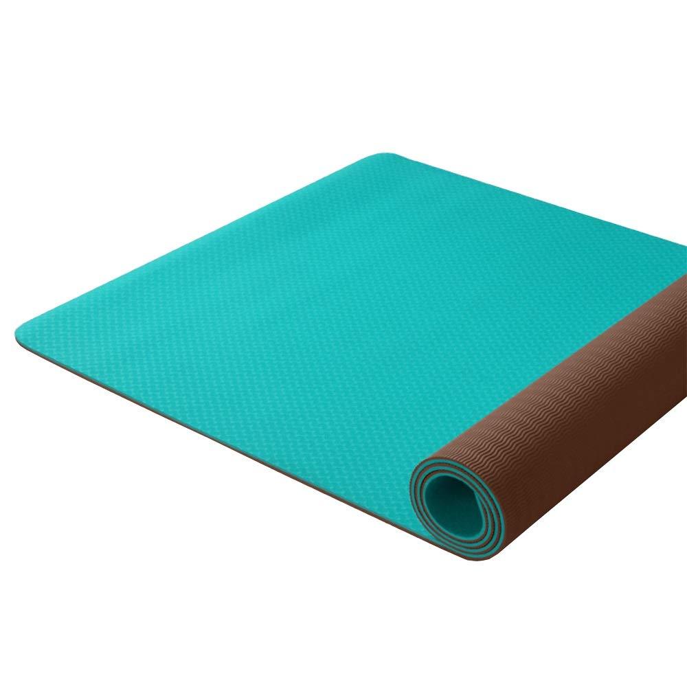 DGLIYJ Yoga Mat-TPE Principianti Modelli Femminili da Uomo Antiscivolo Lungo più Tappetino Yoga Allargato (2 Colorei Opzionali) (colore   Sky blu, Dimensioni   Solid Colore)