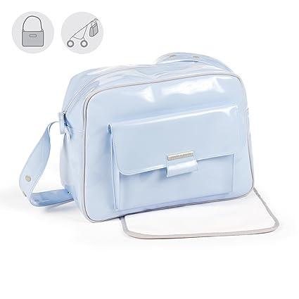 Pasito a pasito AA666 - Bolsa canastilla Charol Tweed Baby, color azul