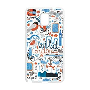 London Tube Map Samsung Galaxy Note 4 Cell Phone Case White xlb-203836