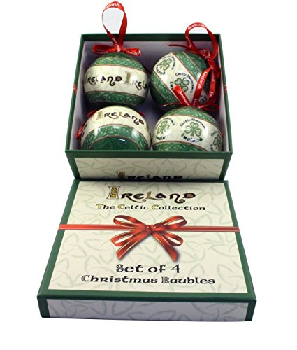 Irish Celtic Christmas Bauble Tree Decoration Set of Four ()