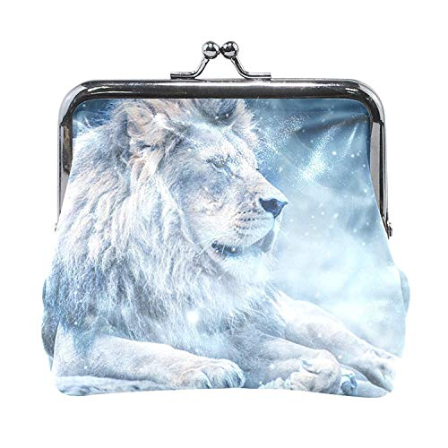 Coin Purses Winter Snow Lion Kiss-lock Buckle Vintage Clutch Cosmetic Bags