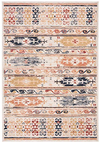 (Safavieh CHL421A-8 Charleston Collection CHL421A Ivory and Rust (8' x 10') Area Rug,)