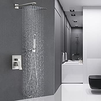 Amazon Com Atlantis 7 Rain Shower Head System Brushed