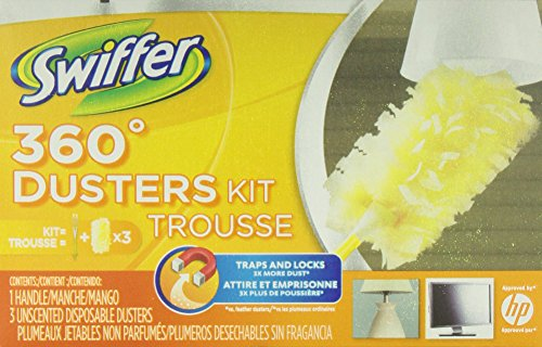 Swiffer 360 Disposable Cleaning Dusters Unscented Starter Kit (Pack of 3) (Packaging May Vary) (Swifter 360 Starter Kit compare prices)