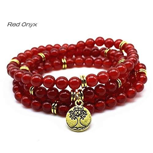 Charm Elastic Natural Tourmaline Stone Necklace Gold Bracelets