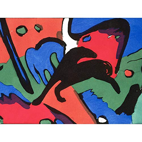 (Franz Marc and Wassily Kandinsky The Blue Rider Art Print Canvas Premium Wall Decor Poster Mural)