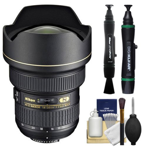 Nikon 14-24mm f/2.8G ED AF-S Zoom-Nikkor Lens + Nikon Cleaning Kit for D3200, D3300, D5300, D5500, D7100, D7200, D750, D810 Cameras