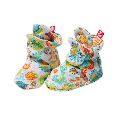 Zutano Baby-girls Infant Balalaika Bootie, White, 6 Months ()