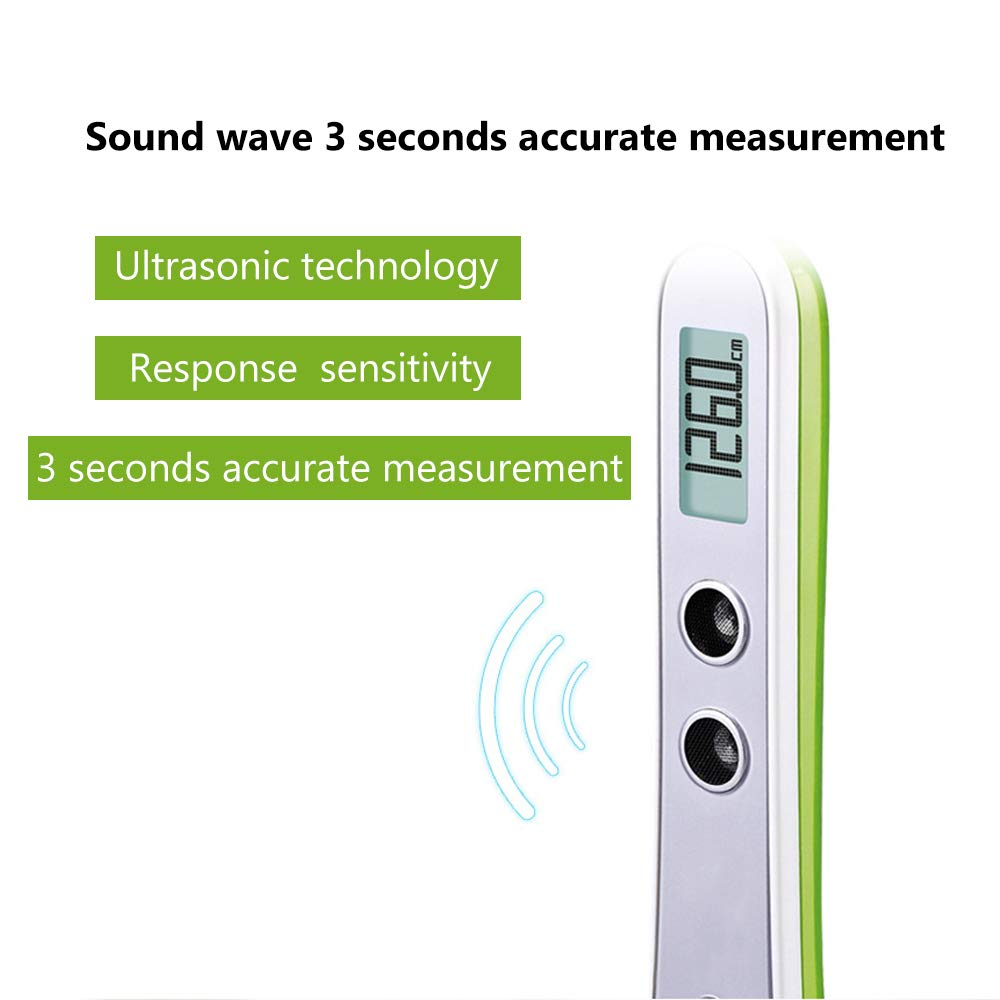 Onepeak LCD Display Electric Ultrasonic Height Measuring Instrument for Kids and Adults