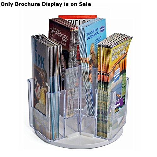 (Multi-Pocket Tri-Fold Brochure Revolving Counter Display 6 Pockets)