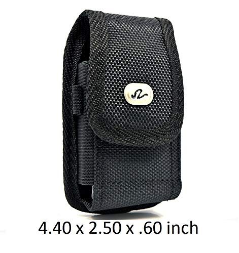 2 Pack Compatible with Vertical Rugged Canvas Case Holster for Sprint Kyocera DuraXT/DuraPro (Duraxt Clip)
