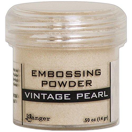 Embossing Pearls Ranger (Ranger Embossing Powder .52oz - Vintage Pearl)