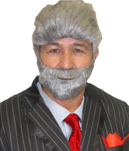 World Most Interesting Man Costume (Most Interesting Man in the World Wig and Beard)